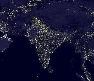 india at night
